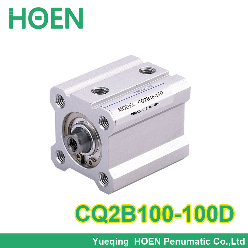 SMC Type CQ2B100-100D bore 100mm stroke 100mm Double Acting single rod Pneumatic Compact Cylinder high quality cxsm10 10 cxsm10 20 cxsm10 25 smc dual rod cylinder basic type pneumatic component air tools cxsm series lots of stock