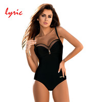 Lyric One Piece Swimsuit Plus Size Women 2018 New Arrival Strappy Swimwear Bodysuit Push Up Biquini