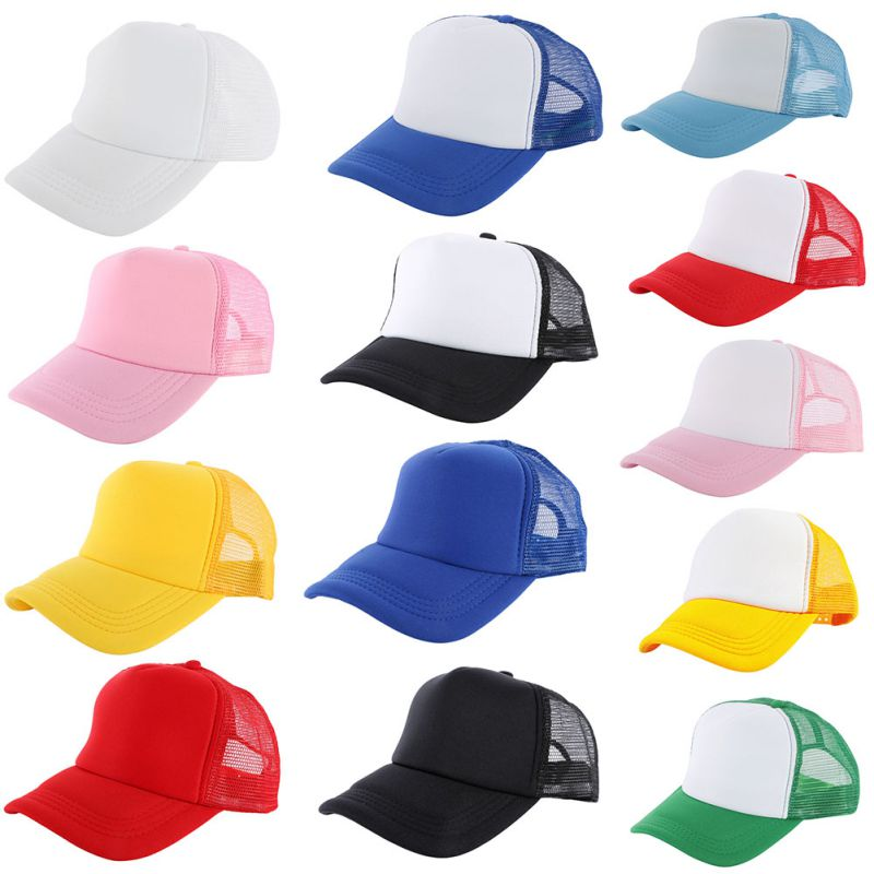 Trucker Hat Blank Curved Hat Mesh Plain Color Cap Vogue Adjustable Baseball  Cap-in Baseball Caps from Apparel Accessories on Aliexpress.com  52a99482327f