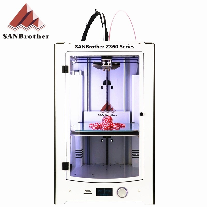 3D Printer 2016 Newest SANJIUPrinter Z360 Dual Extruders 3D Printer DIY KIT More Higher Than Ultimaker