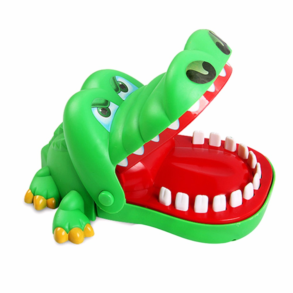 Funny Crocodile Pulling Teeth Board Game Crocodile Mouth Dentist Bite Finger Kids Puzzle Toy Bar Game for Reaction Training цена