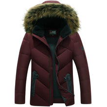 new winter 2017 down cotton-padded jacket extra males's clothes Hooded youth cotton-padded garments of domesticate one's morality