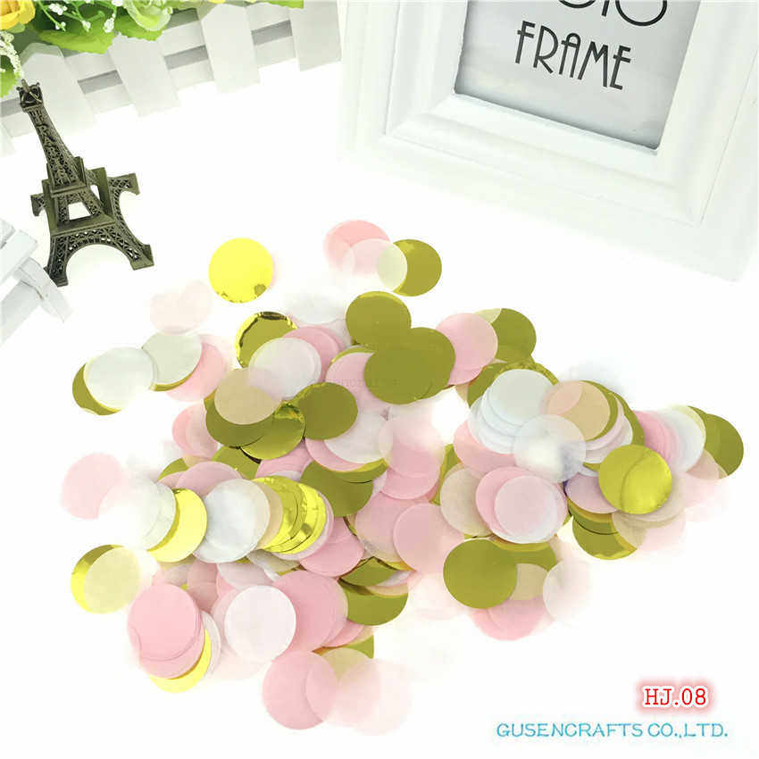 30g Pack Paper Confetti Round Multicolor Wedding Party Table Decoration Supplies