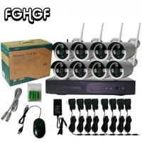 FGHGF Camera De Seguridad Cctv System 960p 8ch Hd Wireless Nvr Kit Ir Night For Vision