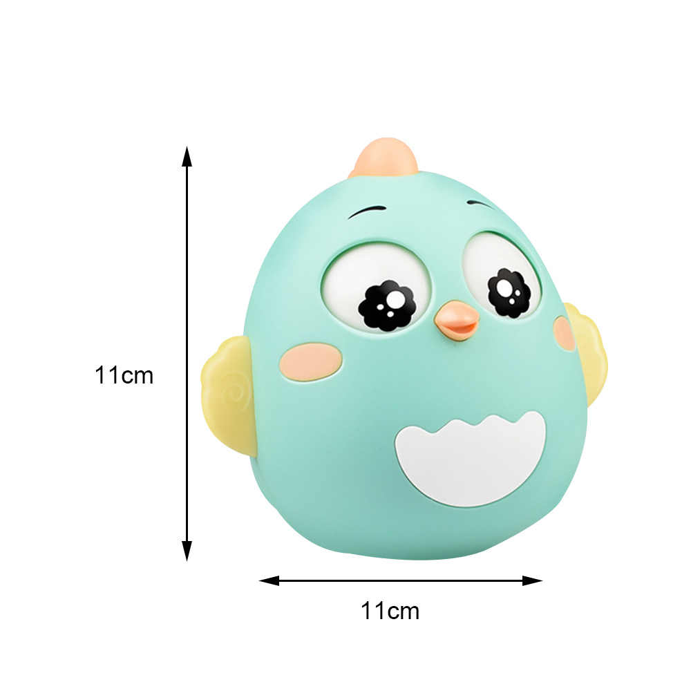 Bayi Kreatif Tumbler Boneka Mainan Bayi Teether Bell Mainan Pendidikan Mainan Cewek Bayi Musik Awal Mengajar Anak-anak Teether J75
