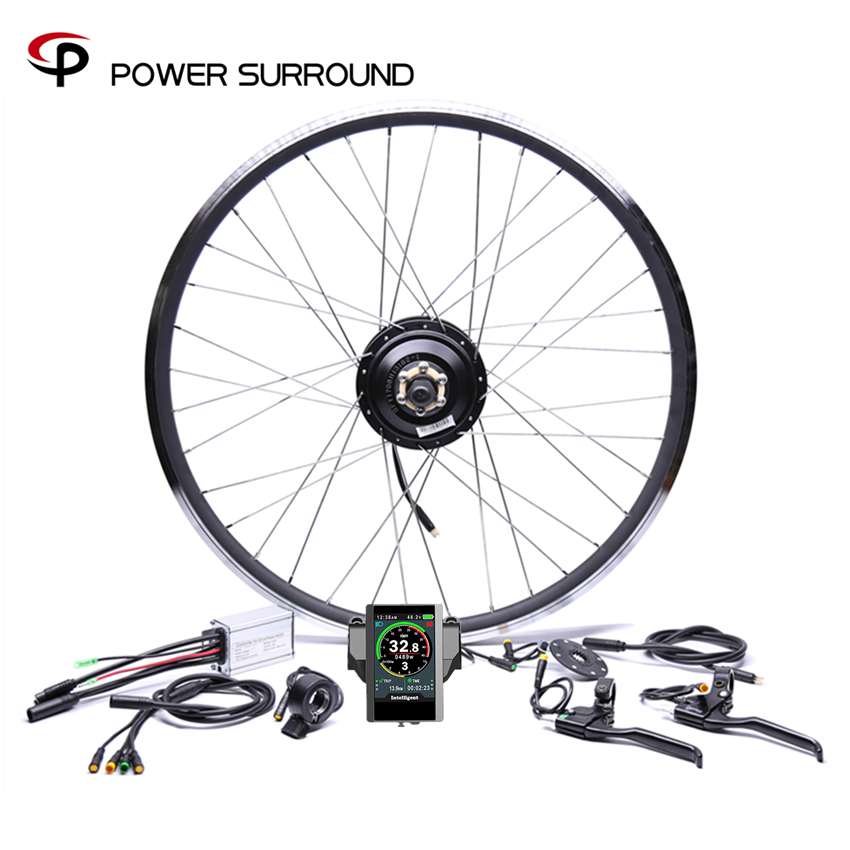 Bicicleta Eletrica Waterproof Color display 36v350w Front rear Electric Bike Conversion Kit Brushless Hub Motors 20