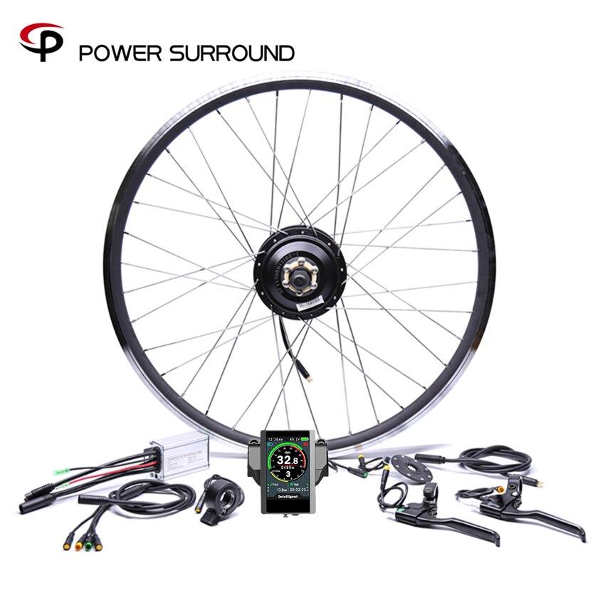 Bicicleta Eletrica Водонепроницаемый Цвет дисплей 36v350w спереди/сзади Электрический велосипед Conversion Kit бесщеточные двигатели концентратор 20 ''26'' 28''