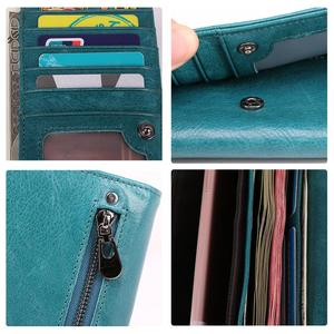 Image 5 - JOYIR Genuine Leather Women Wallet Multifunction RFID Wallets Brand Purses Carteira Fashion Female Card Holder Wallet Phone Bag