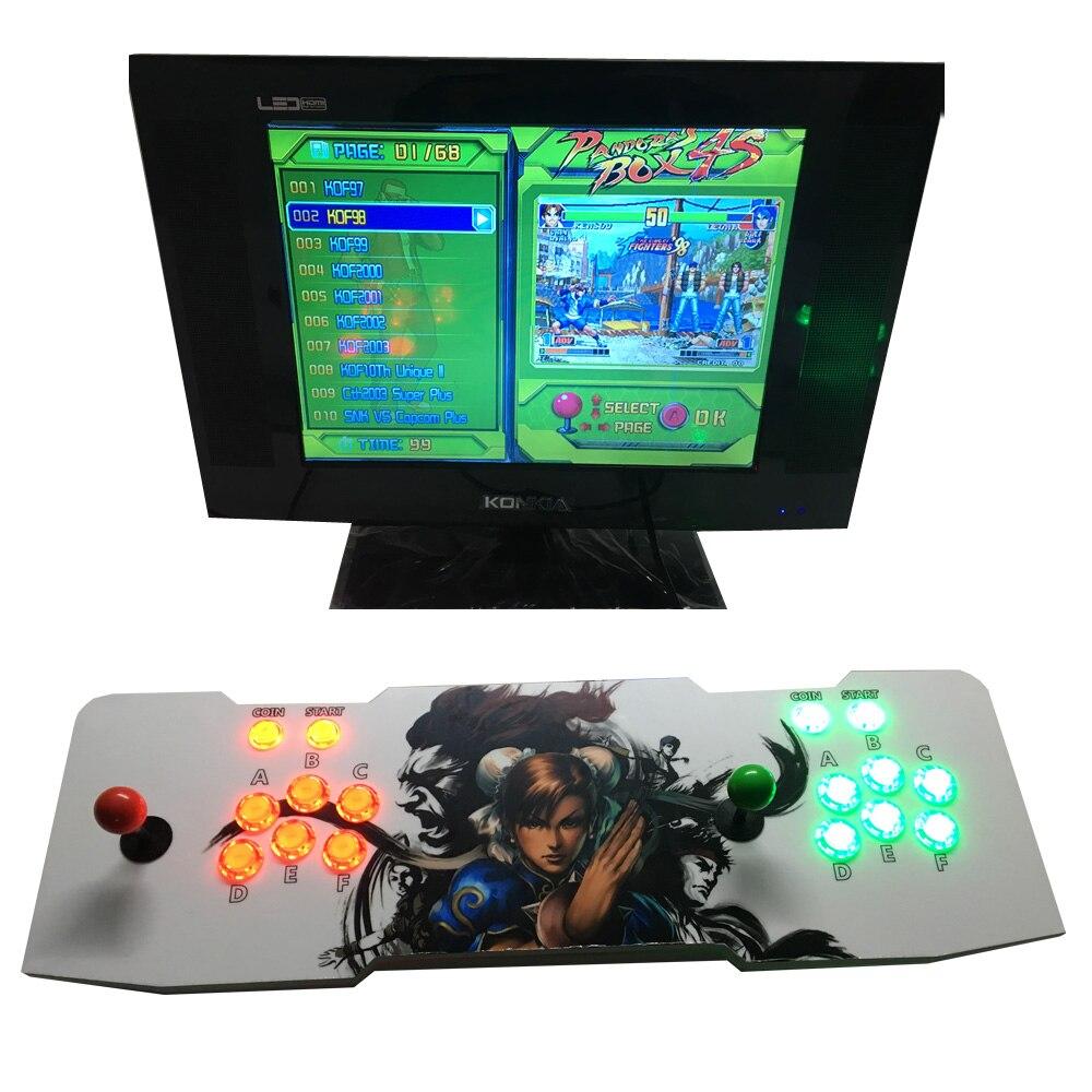 все цены на  2017 year  Arcade Game Machine Kits double arcade game console with Game Board Pandora Box 4s 680 games in 1  онлайн