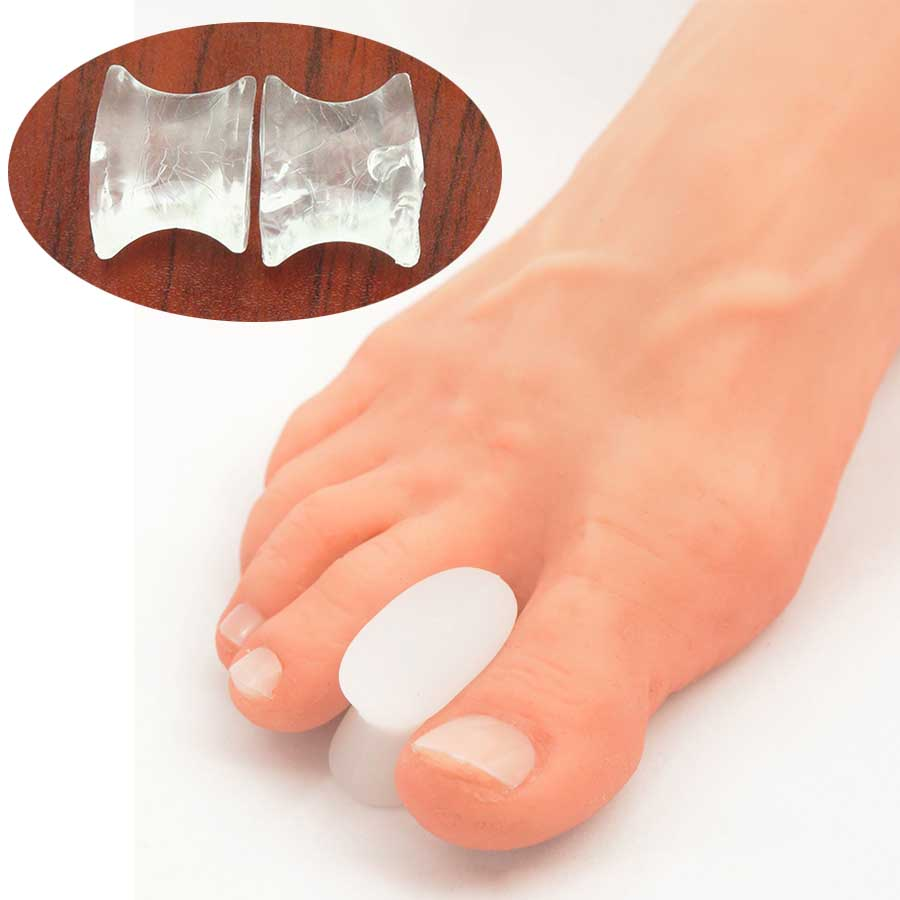 2Pcs Silicone Gel Toe Separator Straightener Relief Hallux Valgus Pain Friction Pressure Feet Care Velvet Smooth Massager C137