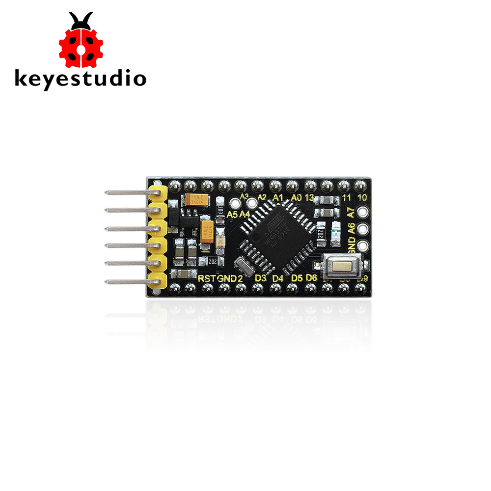 Keyestudio 5 v/16 mhz ProMini Originale ATMEGA328P Scheda di Sviluppo Per Arduino Progetti FAI DA TEKeyestudio 5 v/16 mhz ProMini Originale ATMEGA328P Scheda di Sviluppo Per Arduino Progetti FAI DA TE