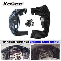 KOSOO автомобильный Fender Щит двигателя двигатель шины Сейф плиты Защитная крышка наклейка для Nissan Patrol Y62 стайлинга автомобилей аксессуары