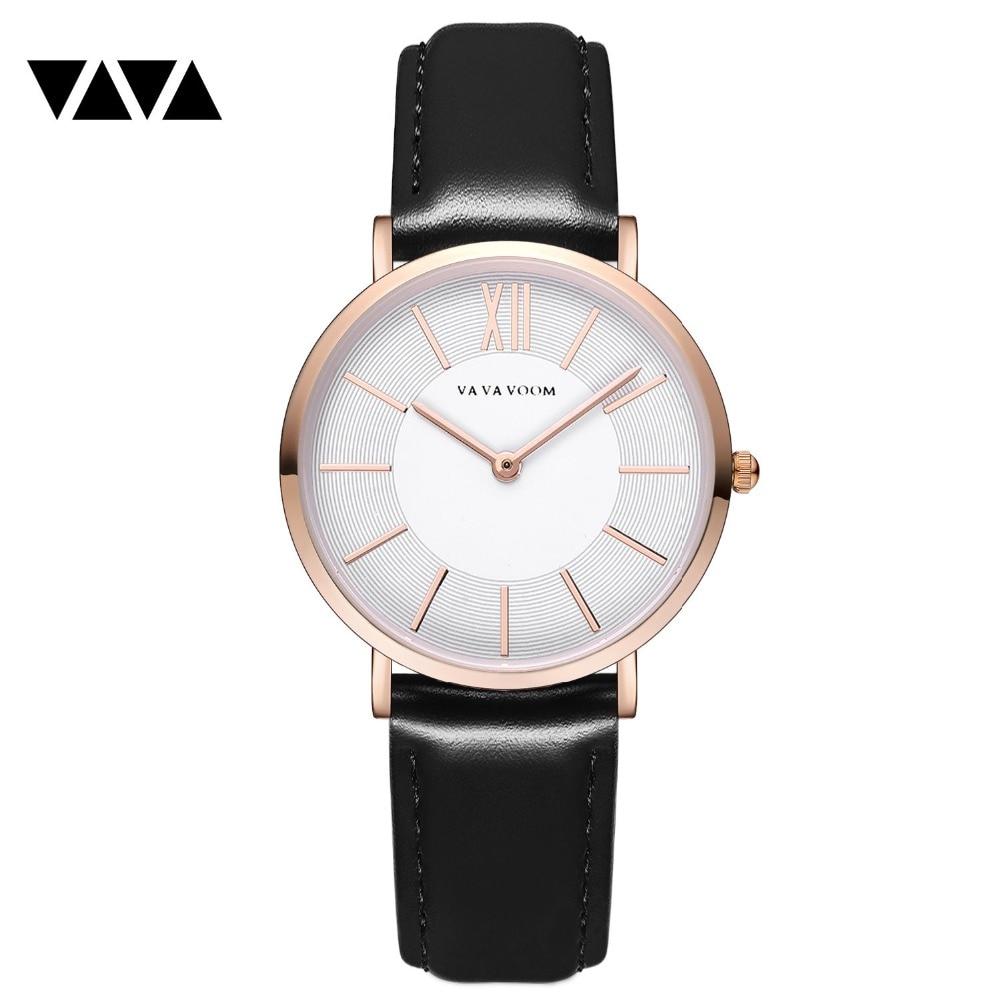 VA VA VOOM 2018 New ladies 'minimalist casual belt wristwatch cross-border ecommerce license eBay wish fashion quartz watch zoo ba va va voom vol 2 lp
