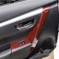 TOMEFON For Toyota Corolla 2014 2015 to 2017 2018 Car Styling Wood Paint Auto Inner Accessories Door Handle Trim