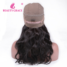Beauty Grace 360 Lace Frontal Wig 150% Density 14-22 inch Pre Plucked Brazilian Body Wave Remy Human Hair Wig For Black Women