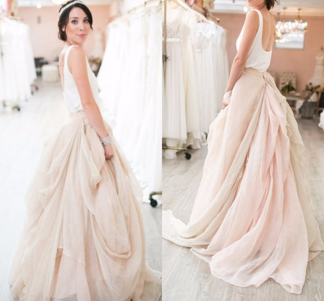 Chiffon flouncing vintage wedding skirts real wedding blogs new chiffon flouncing vintage wedding skirts real wedding blogs new fashion ruffles big ruched bridal gowns customize junglespirit Image collections