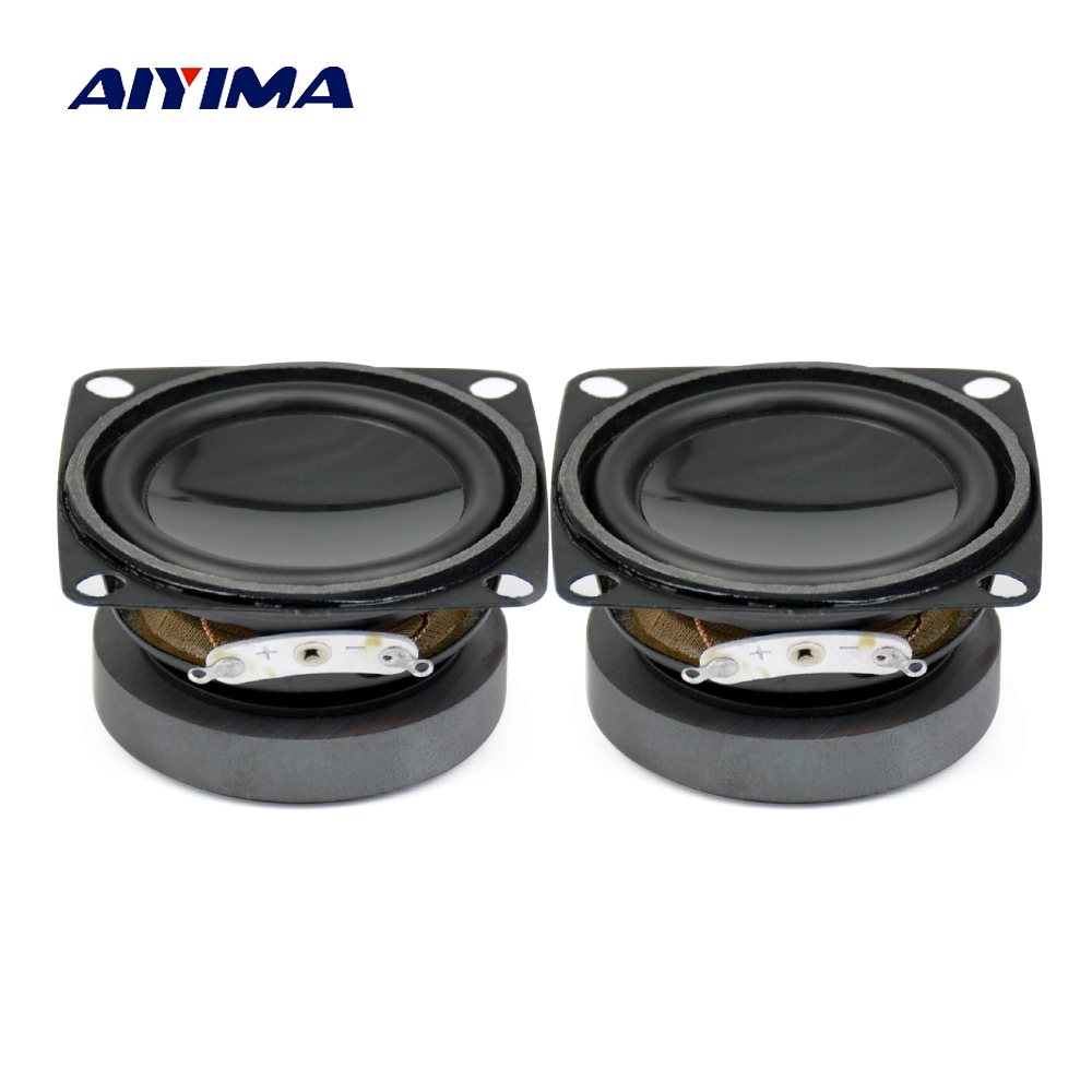AIYIMA 2Pcs 2Inch 52mm Full Range Speakers 4Ohm 5W Audio Portable Speaker DIY Mini Multimedia Audio Speaker s3w se 2 0 multimedia speaker system mini multimedia speaker 1way order vented full range speaker 3 full range driver bass
