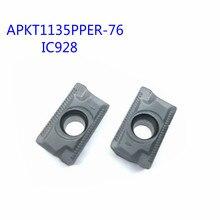 цены 10PCS  APKT1135PPER-76 IC928 External Turning Tools APKT 1604 Carbide insert Lathe cutter Tool