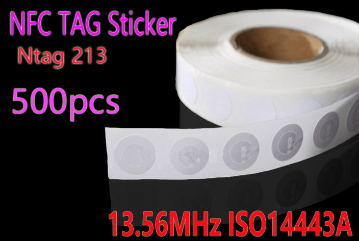 500pcs NFC Tag 13.56MHz ISO14443A Ntag 213 NFC Sticker 25mm Ntag213 RFID NFC Tags Stickers For All NFC Phone waterproof nfc tags lable ntag213 13 56mhz nfc 144bytes crystal drip gum card for all nfc enabled phone min 5pcs