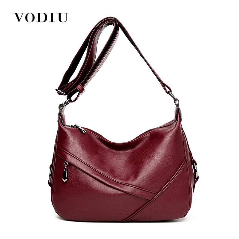 где купить Women Bags Leather Tote Over Shoulder Sling Messenger Crossbody High Quality Ladies Fashion Zipper 2017 Hot Sale Female Handbag дешево