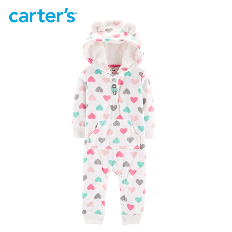56c26767a Carters baby jumpsuit Hooded fleece jumpsuits One pieces rompers ...