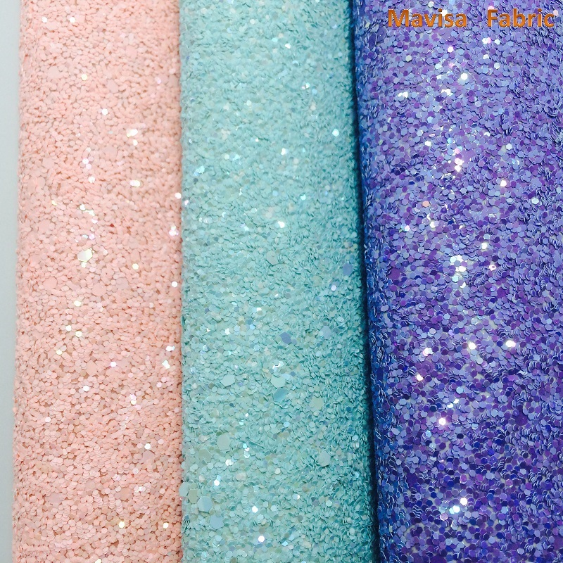 1PCS A4 SIZE 21X29cm  Synthetic Leather, Artificial Leather, Chunky Glitter Fabric For Bow DIY  handbags shoes  MK025