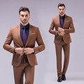 Itália homem ocidental do vestido de casamento 2 pcs suit 12 cores S-5XL plus size formal de trabalho ternos masculinos baratos ternos padrinhos frete grátis