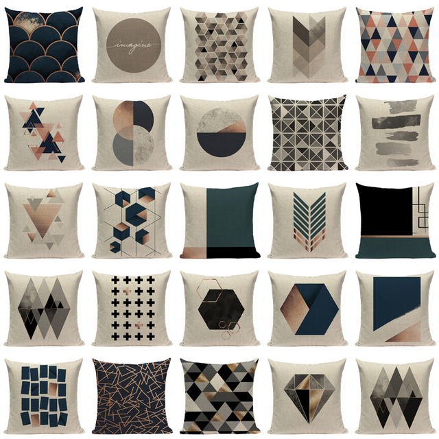 Geometric Shapes Decorative Pillow Covers