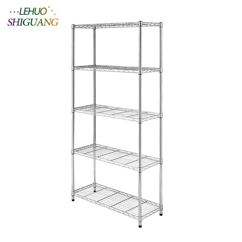 5-Layer Chrome Plated Iron Shelf Living room Bookshelf Home Decor bookcase home kitchen Storage shelf Furniture все цены