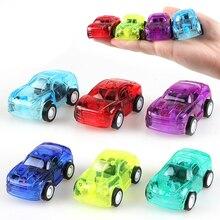 Прозрачные милые пластиковые машинки, Игрушки Божья коровка, машинки для детей, колеса, мини-модель автомобиля, забавные детские игрушки для мальчиков, игрушки для девочек
