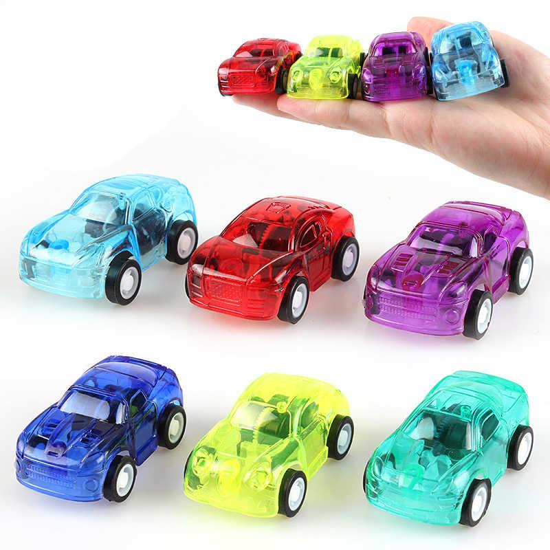 Transparent mignon en plastique tirer arrière voitures jouet coccinelle voitures pour enfant roues Mini voiture modèle drôle enfants jouets pour garçons filles jouets
