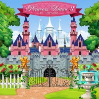 custom princess castle flower garden tree door patio background High quality Computer print party backdrops