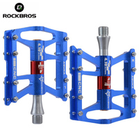 ROCKBROS Bicycle Pedals MTB Mountain Road Bike Cycling Pedals Outdoor Sport Aluminum Alloy Sealed Bearing Bicycle