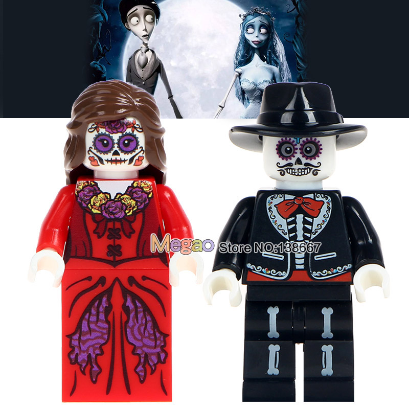 Brave Building Blocks 50 Pcs/lot Movie Coco Day Of The Dead Holiday Wm8001 Woman Skeleton Education Learning Children Gift Toys Model Building