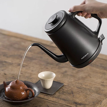 220V Electric Kettle 1L Stainless Steel 1000W Household Kitchen Fast Heating Boiling Teapot Pot Long Mouth Coffee Hand Pot
