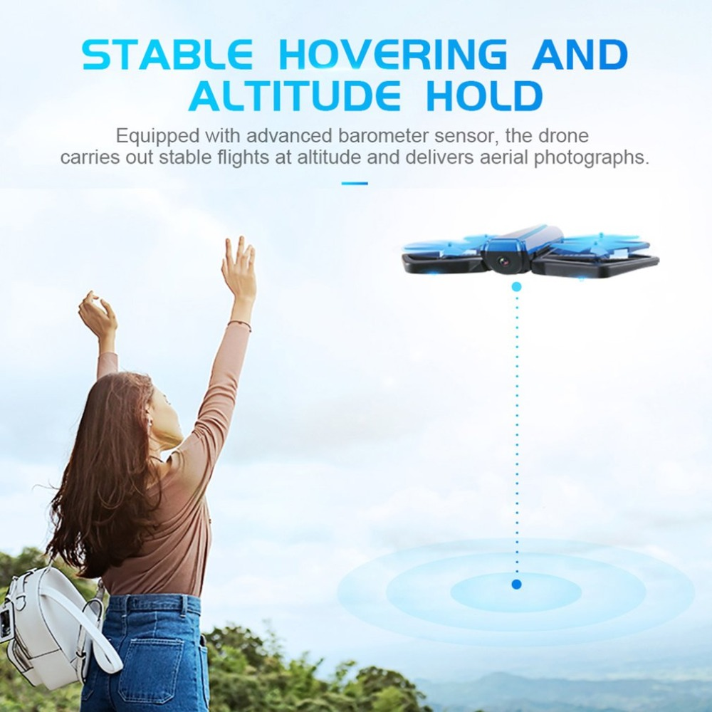 H43WH WIFI FPV 720P HD Camera Drone Self-timer Quadcopter Foldable G-sensor Mini RC Selfie Drone Quadcopter