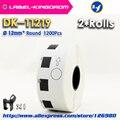 2 Refill Rolls Kompatibel DK 11219 Label Durchmesser 12mm Runde 1000Pcs Kompatibel für Brother Drucker QL 570/700/ 710/720 DK 1219-in Drucker-Bänder aus Computer und Büro bei