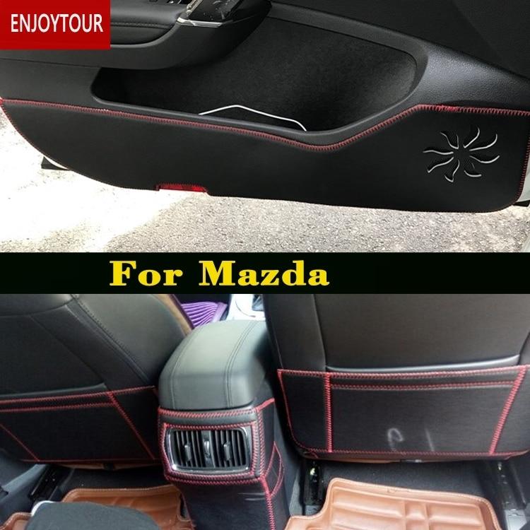 Car pads front rear door Seat Anti kick mat Accessories For MAZDA demio 2 3 5 6 CX 5 CX5 CX 7 CX7 MAZDA3 axela MAZDA6 ATENZA in Anti Child Kick Pad from Automobiles Motorcycles