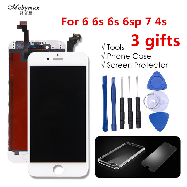 Mobymax Grade AAA+++ For iPhone 6 6S Plus LCD With 3D Force Touch Screen Digitizer Assembly Display No Dead Pixel with 3gifts