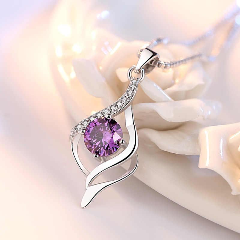 EFOX New Design Soft Heart Pendant Women 925 Sterling Silver Jewelry