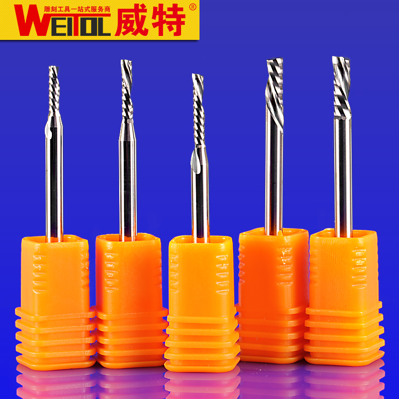 Weitol 5A 1pcs 4mm 6mm Sinistral direction Single Flute Bit Carbide End Mill Set, CNC Router End Mills for Acrylic сигнализатор поклевки hoxwell new direction k9 r9 5 1