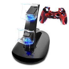 PS4 Giochi per Console Indicatore LED Doppio Set USB Charging Dock Basamento Del Caricatore Per Playstation 4 PS4 Controller Play Station 4 l0606(China)