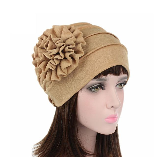 1PC New Women Cotton Flower Hats Spring Summer Floral Beanie Hat Stretch Muslim  Turban Hat Chemo Cap Hair Loss Head Cap 71190ff78ffd