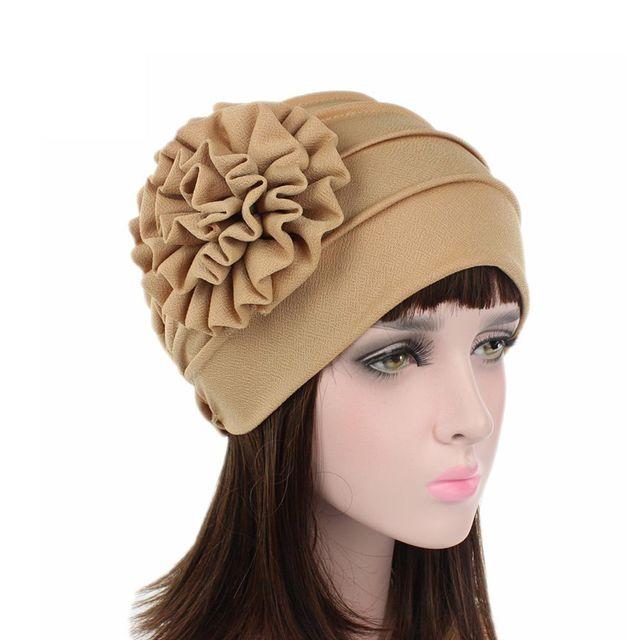 2018 nuevos sombreros de las mujeres Primavera Verano Floral Beanie sombrero  estiramiento turbante musulmán sombrero Chemo 7a7e0081f71e