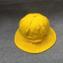 8a67ad33e86 2018 Fashion Striped Spring Autumn Student Yellow Bucket Hat For Girl Women  Summer Sun Visor Beach