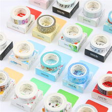 18 Styles Travel/Week/Number/Rose/Cactus Adhesive Tape Diary Kawaii Scrapbooking DIY Craft Sticky Deco Japan Masking Washi Tape(China)
