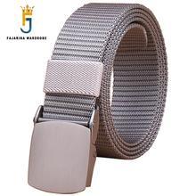FAJARINA Unisex Quality Fashion Canvas Grey Automatic Styles Straped Female Novelty Male Belts for Men 38mm Width CBFJ0050