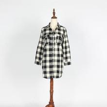 EDGLulu gingham dress new arrival 2019 casual summer mini office womens runway streetwear shirt