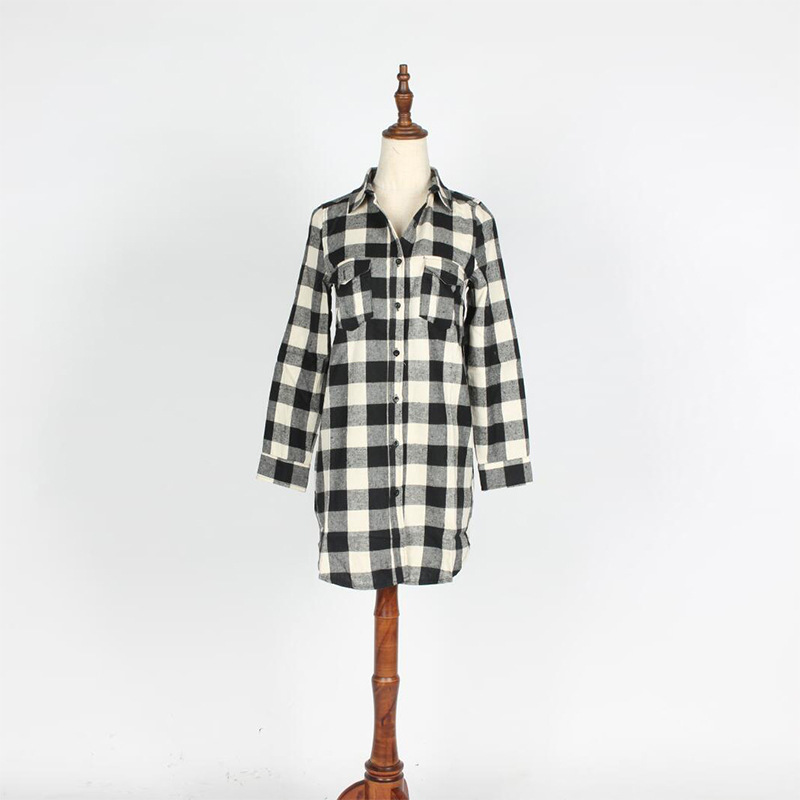EDGLulu gingham <font><b>dress</b></font> new arrival 2019 casual summer mini office womens runway streetwear shirt <font><b>dress</b></font> image
