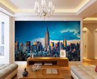 Custom 3d HD Photo Wallpaper Mural Non Woven Wallpaper New York Architectural Landscape Photo Sofa TV